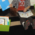puppets - reading appropriate leveled texts in kindergarten