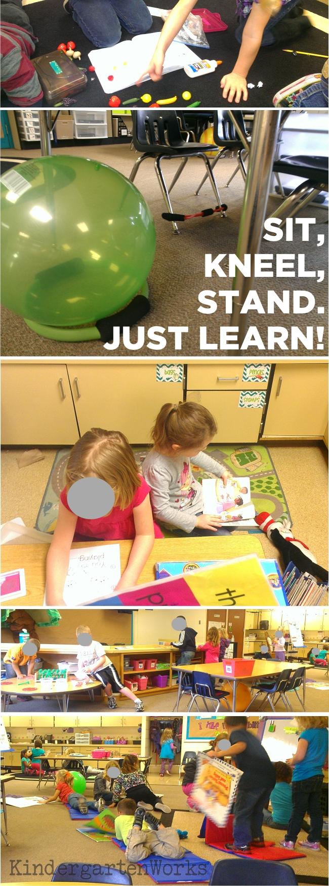 Kindergarten Works :: getting rid of my teacher desk {alternative seating bonus}