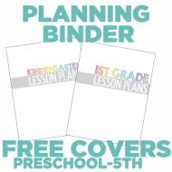 4 free teacher planning binder covers {printable}