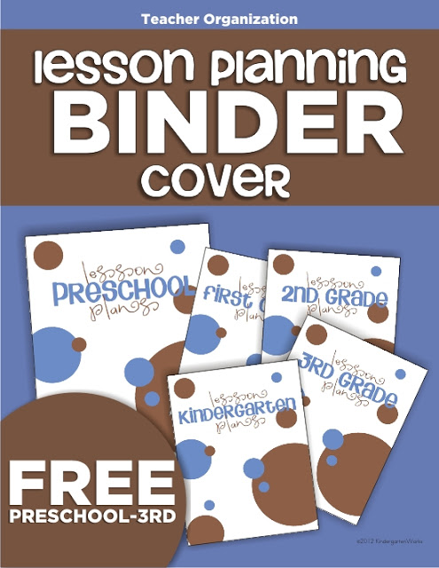 4 free teacher planning binder covers