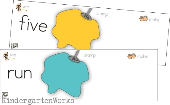 playdough word work - substituting sounds in CVC words KindergartenWorks