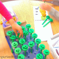 playdough word work – substituting sounds in CVC words