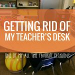 Getting Rid of my Teacher Desk {alternative seating bonus}