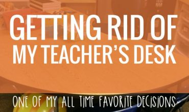 Getting Rid of my Teacher Desk {alternative seating bonus}