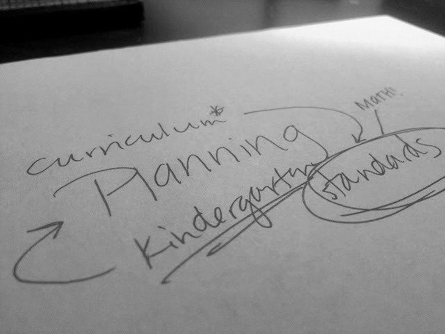 planning kindergarten standards-based math curriculum