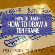 Teach: How to Draw a Ten Frame