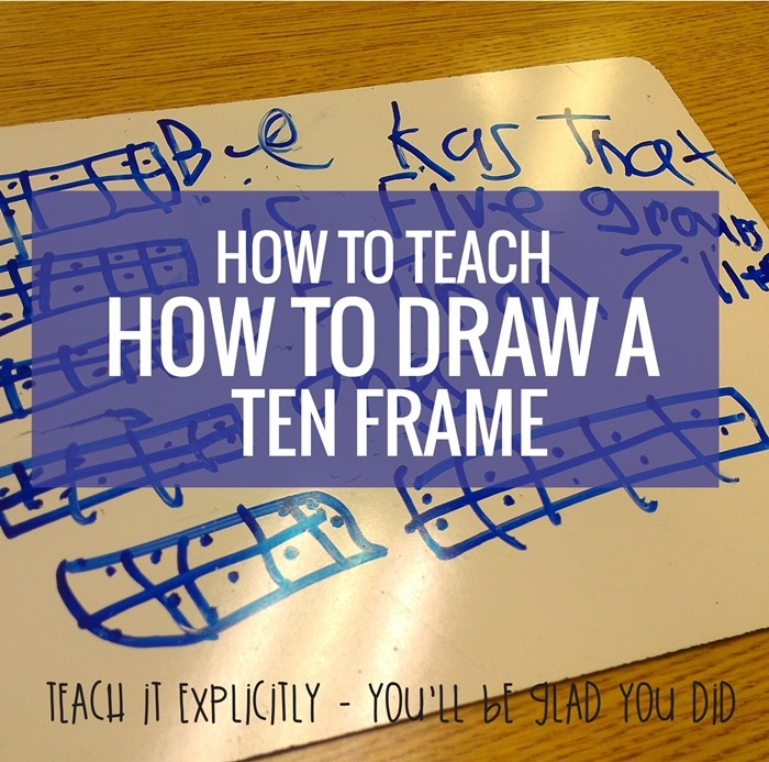 How to teach how to draw a ten frame - perfect for kindergarten