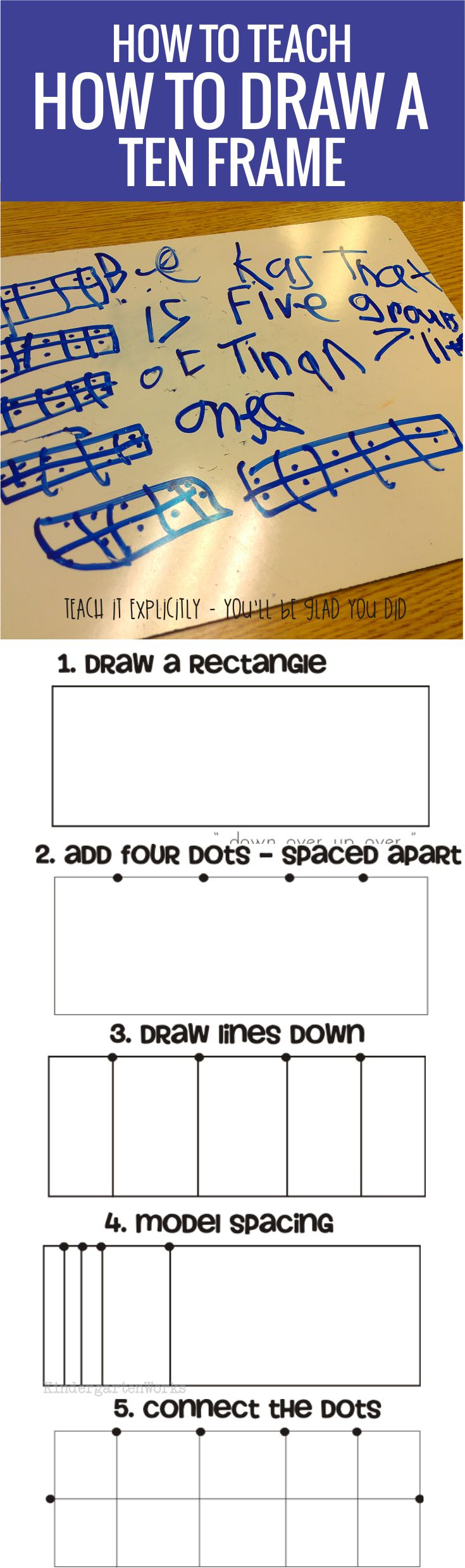 How to teach how to draw a ten frame - this is so easy I have to do this