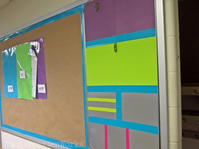 KindergartenWorks: brightly colored and adhesive {classroom decor with duct tape}