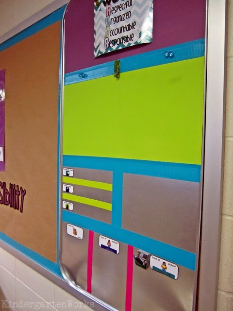 brightly colored, fully functional {how to make an everything board}