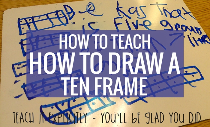 This is an easy way to teach how to draw a ten frame - perfect for kindergarten