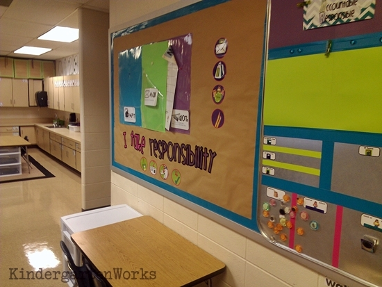 KindergartenWorks :: brightly colored and cohesive {creating a classroom color scheme}