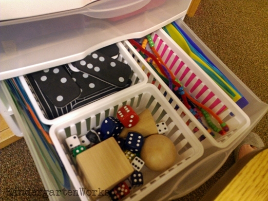 guided math - small group space guided setup