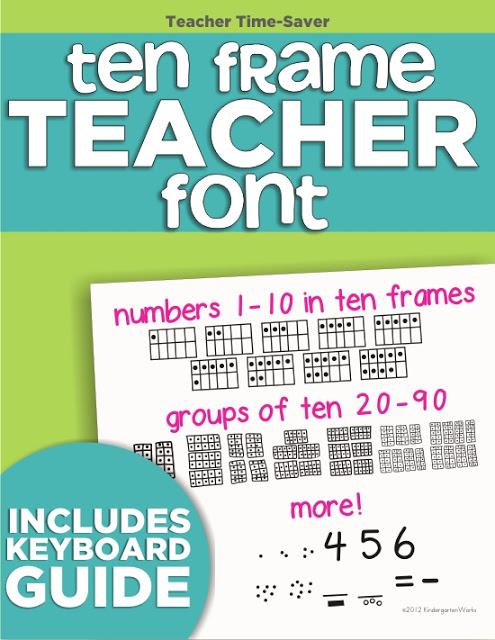 2 free teacher fonts and a ten frame font - KindergartenWorks