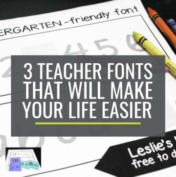 3 Teacher Fonts to Make Your Life Easier