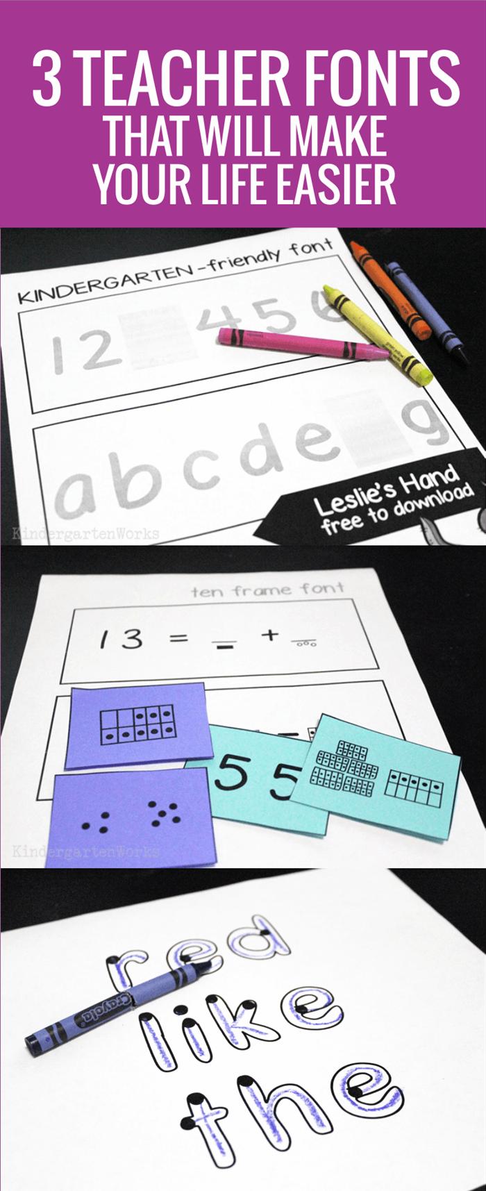 3 Teacher Fonts to Make Your Life Easier in Kindergarten
