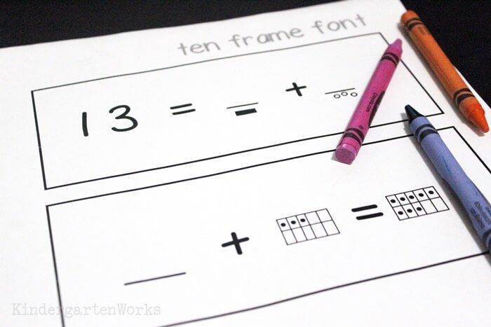 Ten frame font to make math worksheets