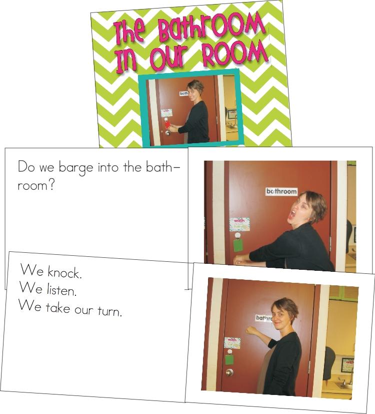 classroom procedures book for the bathroom - KindergartenWorks