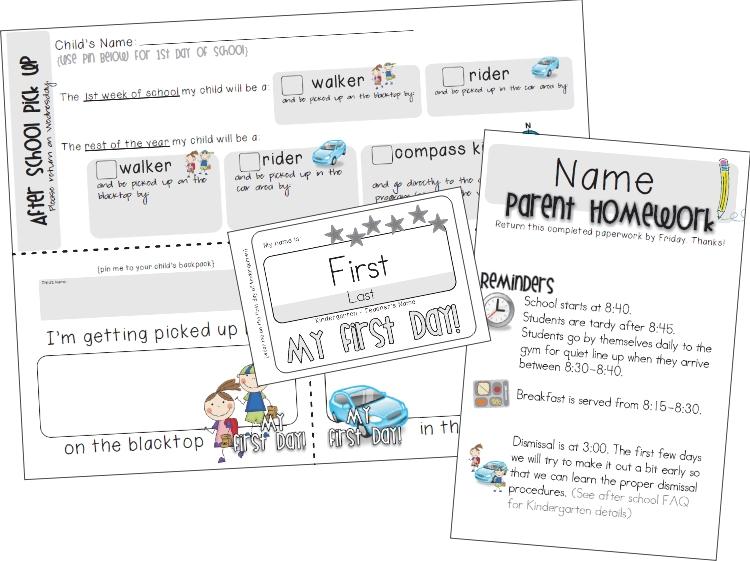 preparing for the parents - KindergartenWorks