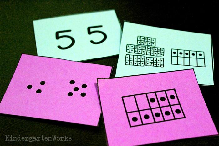 ten frame font for kindergarten and first grade to make math materials