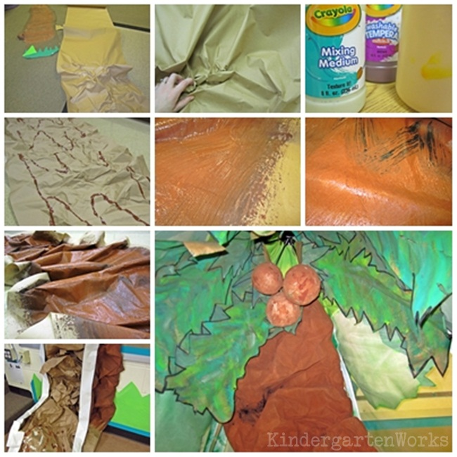 """How To Make a """"Scrunchy"""" Tree Trunk"""