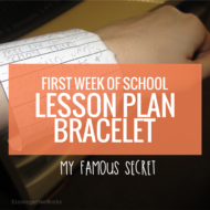 First Week of School Lesson Plan Bracelet