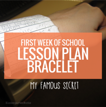First Week of Kindergarten Lesson Plan Bracelet