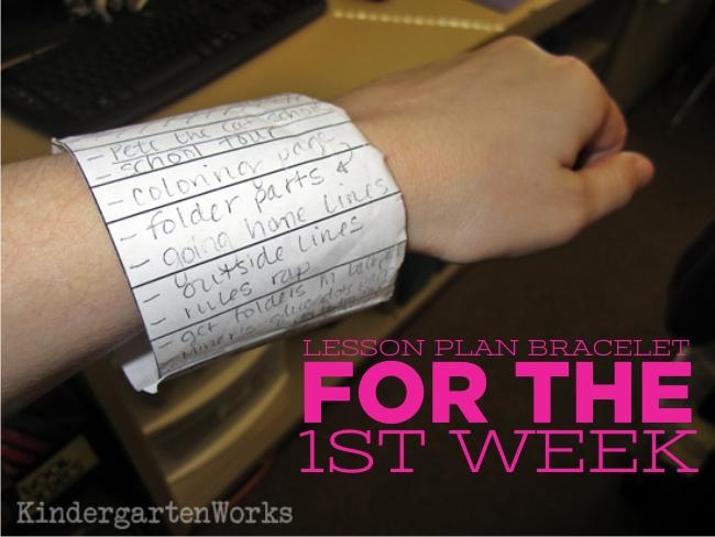 KindergartenWorks :: Lesson Plan Bracelet