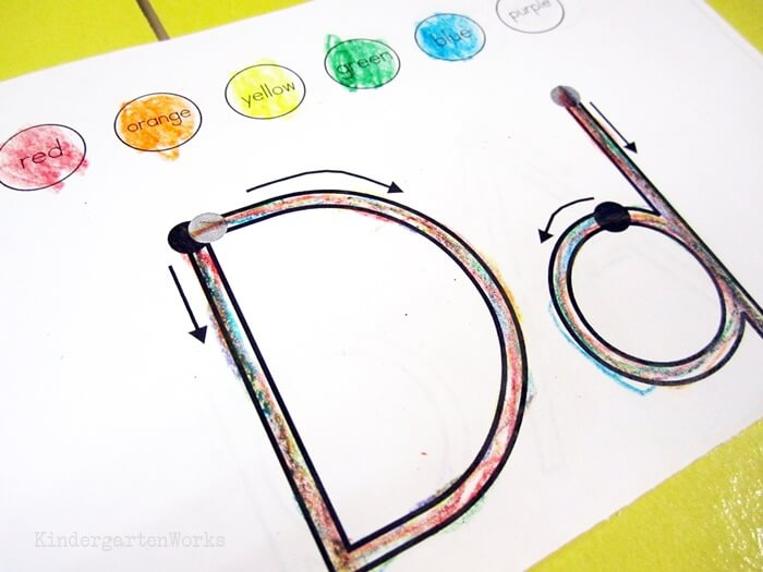 Handwriting Rainbow Books - Teaching Kindergarten How to Form Letters