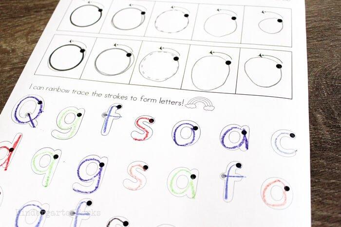 backwards circles handwriting letters