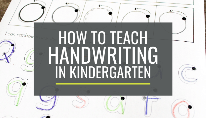 breaking handwriting down - how to teach handwriting in kindergarten