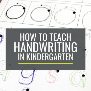 breaking handwriting down - teach handwriting in kindergarten