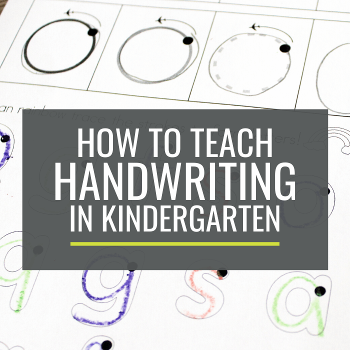 breaking handwriting down - teach handwriting in kindergarten