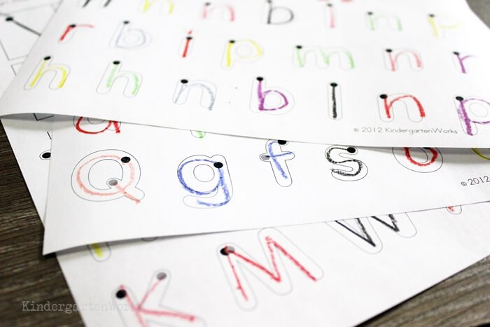 handwriting strokes worksheets for kindergarten