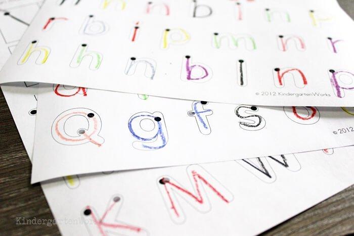 handwriting strokes worksheets for kindergarten