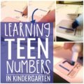 learning teen numbers in kindergarten
