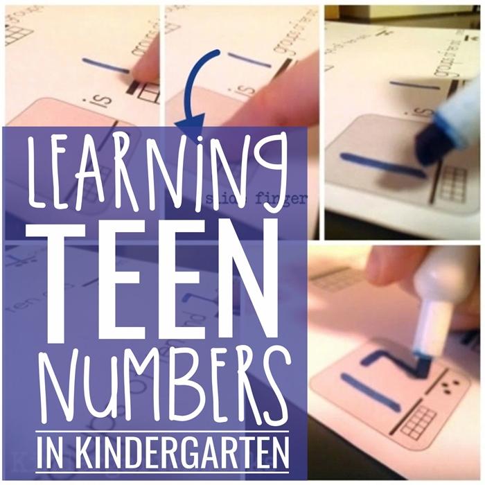 Learning Teen Numbers in Kindergarten | KindergartenWorks