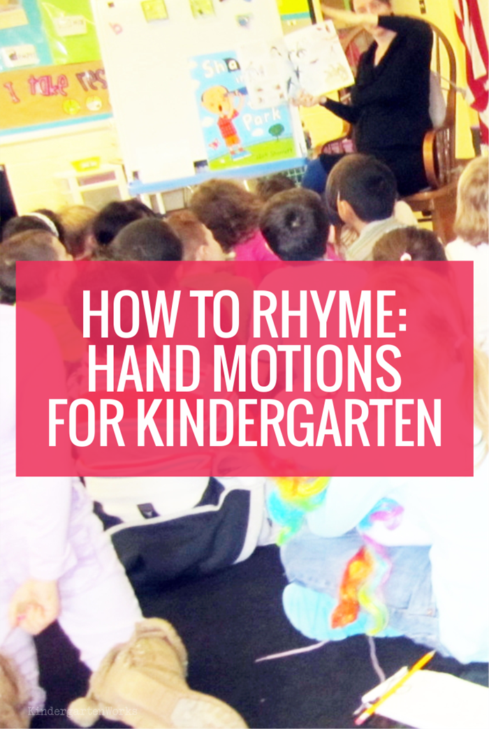 How to Rhyme (Hand Motions) for Kindergarten