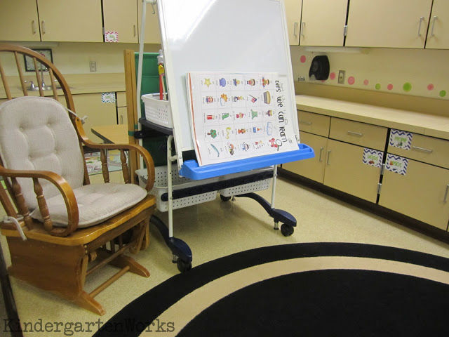 behind my teacher easel - KindergartenWorks