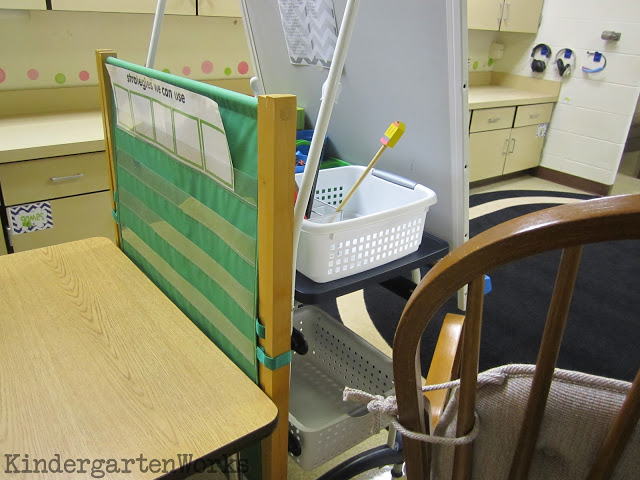 behind my teacher easel - KindergartenWorks