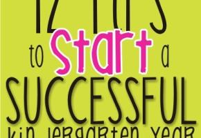 12 tips to start a successful kindergarten year