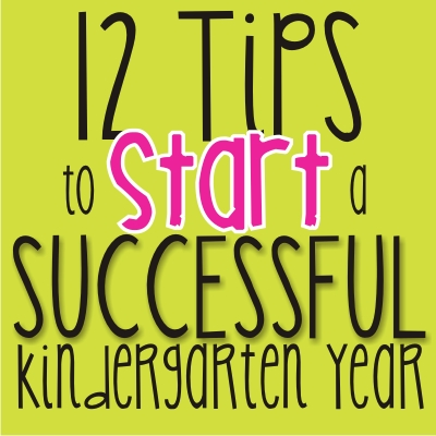 12 tips to start a successful kindergarten year