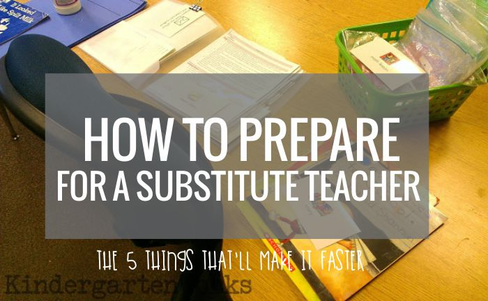 How to Prepare For a Substitute Teacher - I think this sounds really smart to work this way