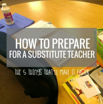 How to Prepare For a Substitute Teacher - These are easily doable and it should make stuff easy to find