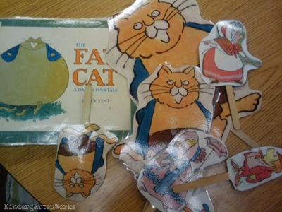 KindergartenWorks: retell literacy center activity - The Fat Cat