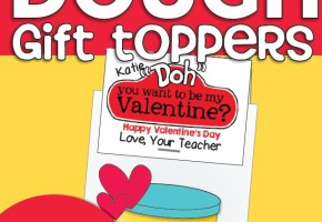Valentine Playdough Gift Toppers {Freebie Printable}