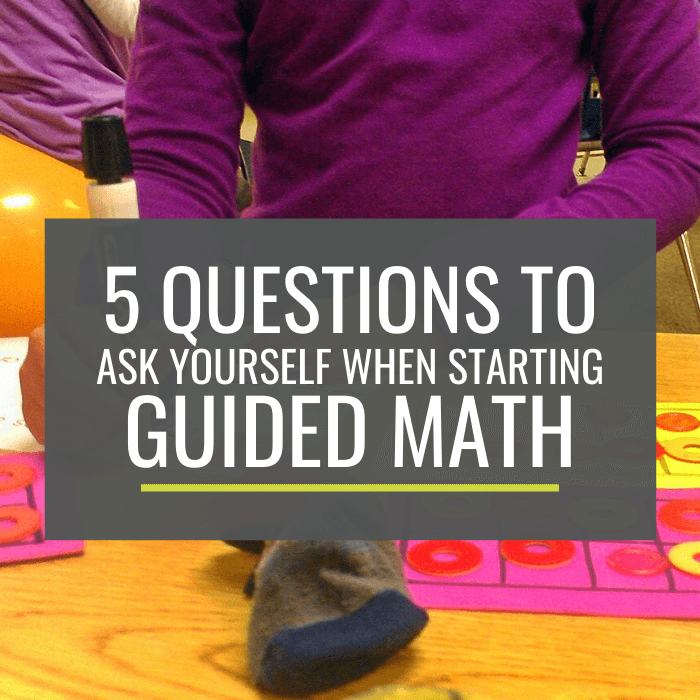 How to get started with guided math for kindergarten