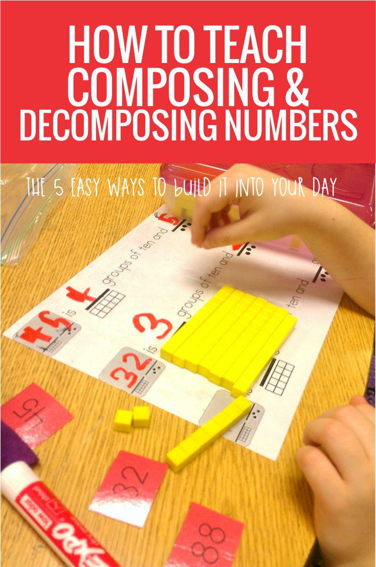 How to Teach Decomposing and Composing Numbers in Kindergarten - these are 5 easy ways to make it happen in my classroom