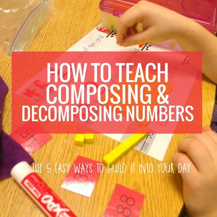 Decomposing Numbers - Why We Teach This in Kindergarten ...