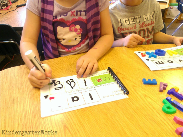 playdough word work - substituting sounds in CVC words KindergartenWorks